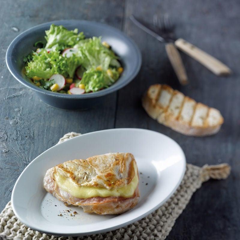 Foto Poulet-Cordon-Bleu mit Salat von WW