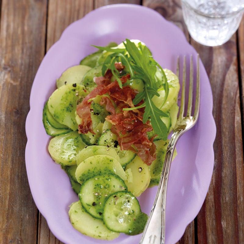 Foto Kartoffel-Gurken-Salat mit Rucoladressing von WW
