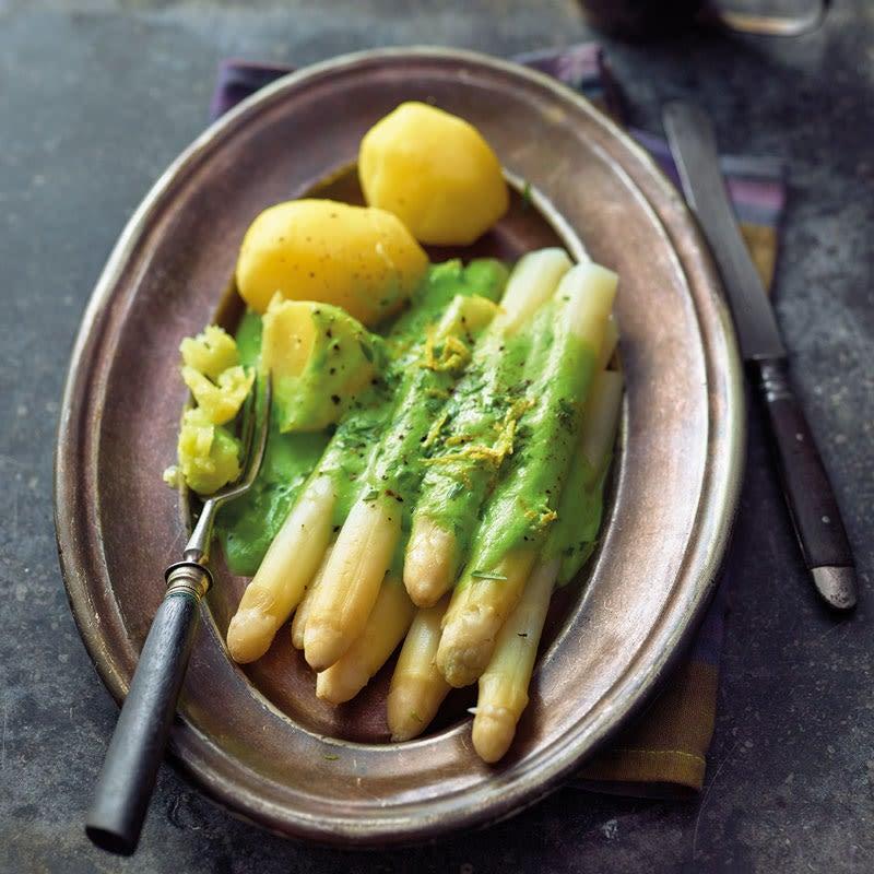 Photo de Asperges, sauce petits pois/citron prise par WW