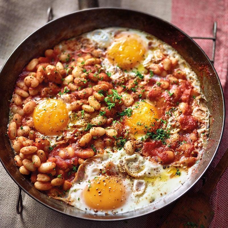 Photo de Baked beans et œuf au plat prise par WW