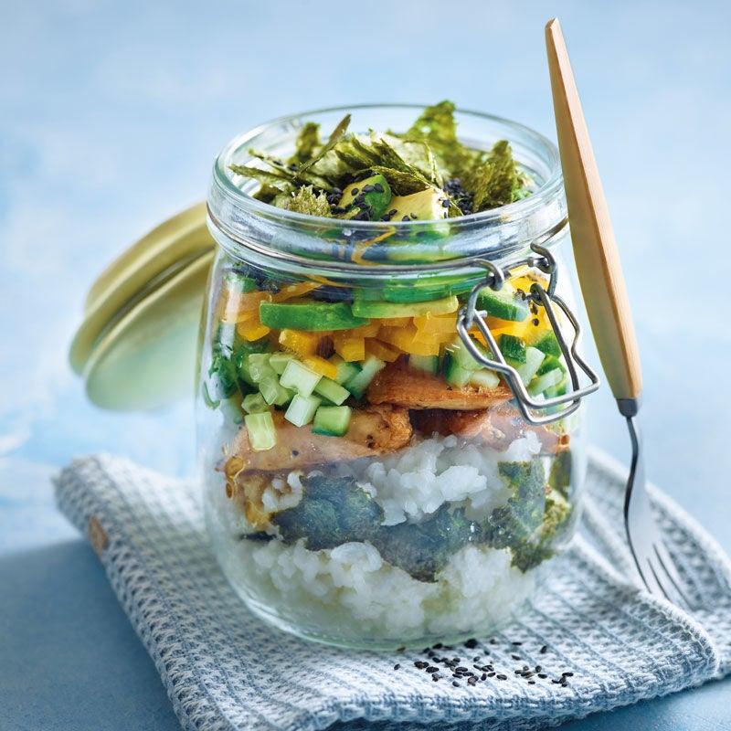 Foto Sushi-Schicht-Salat von WW