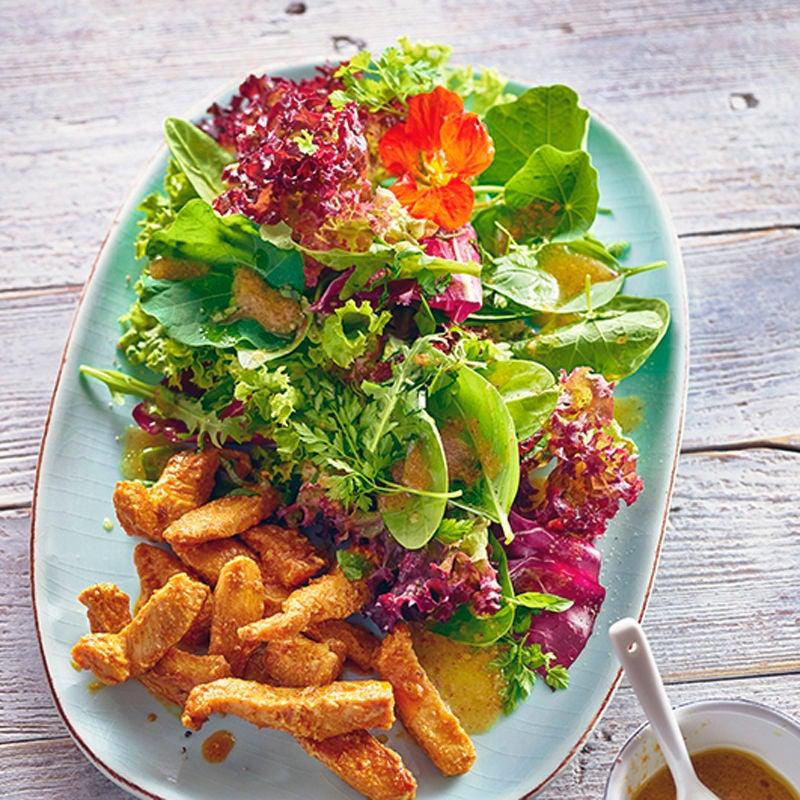 Photo de Salade estivale et poulet tandoori prise par WW