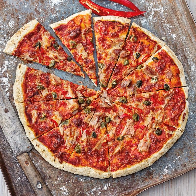 Photo de Pizza au thon fumée et épicée prise par WW