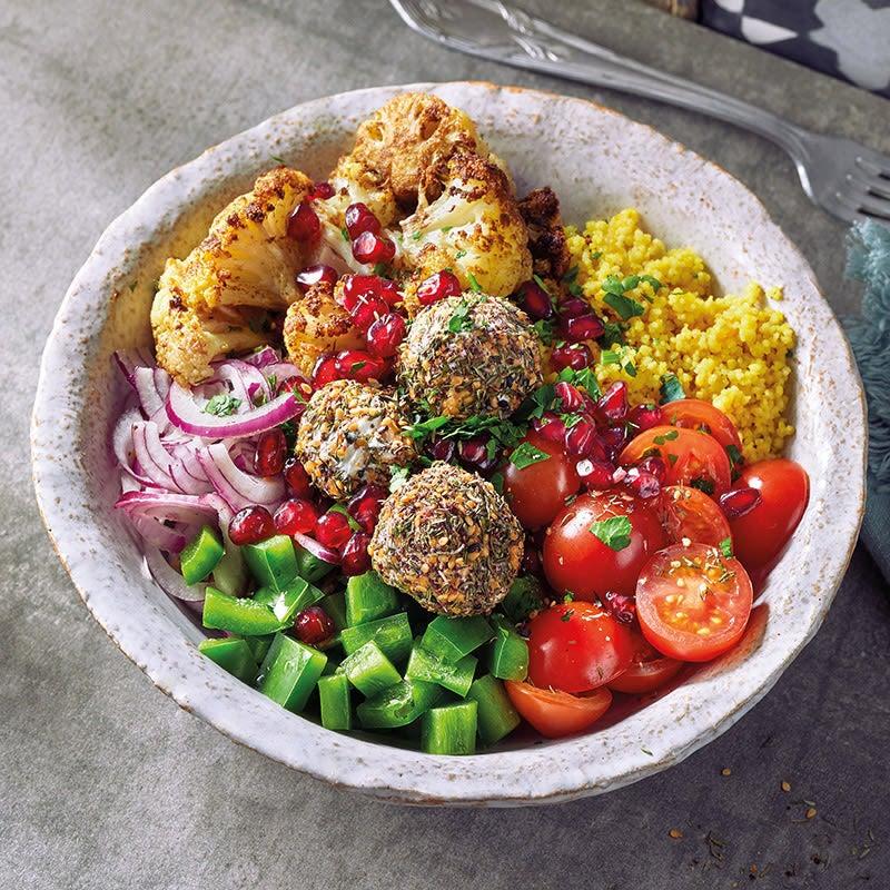 Photo de Bol de couscous, chou-fleur et chenklich prise par WW