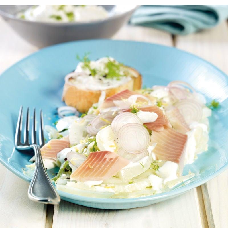 Foto Fenchel-Zitrus-Salat mit Forelle von WW