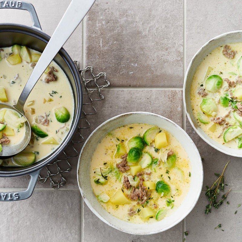 Foto Rosenkohl-Hackfleisch-Suppe von WW