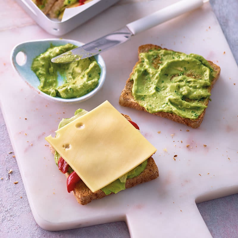 Foto Käse-Sandwiches mit Guacamole von WW