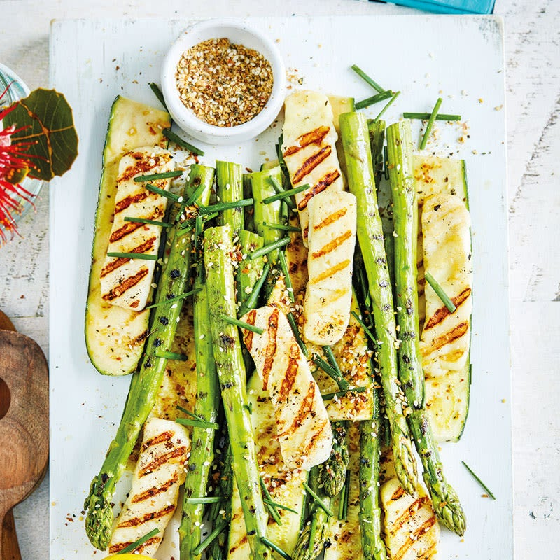 Photo de Assiette de légumes grillés et halloumi prise par WW