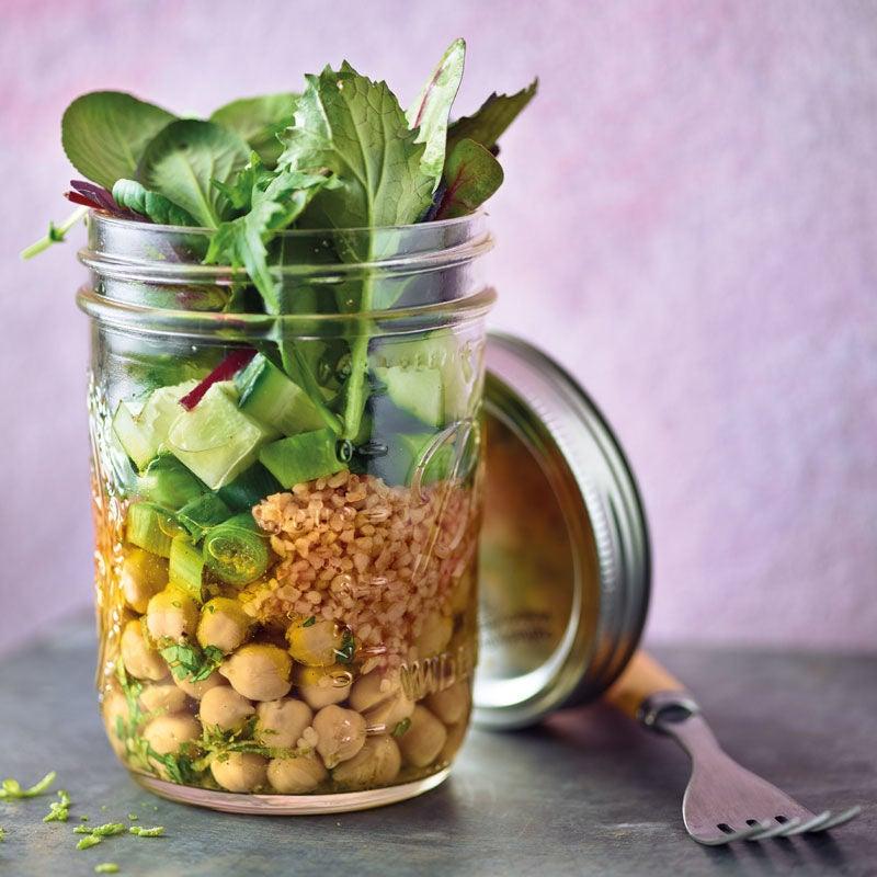 Foto Bulgur-Kichererbsen-Salat im Glas von WW