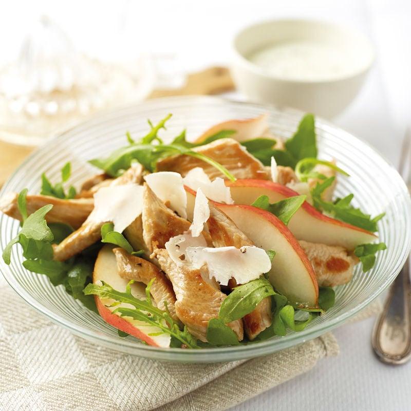 Foto Rucola-Birnen-Salat mit Trutenstreifen von WW