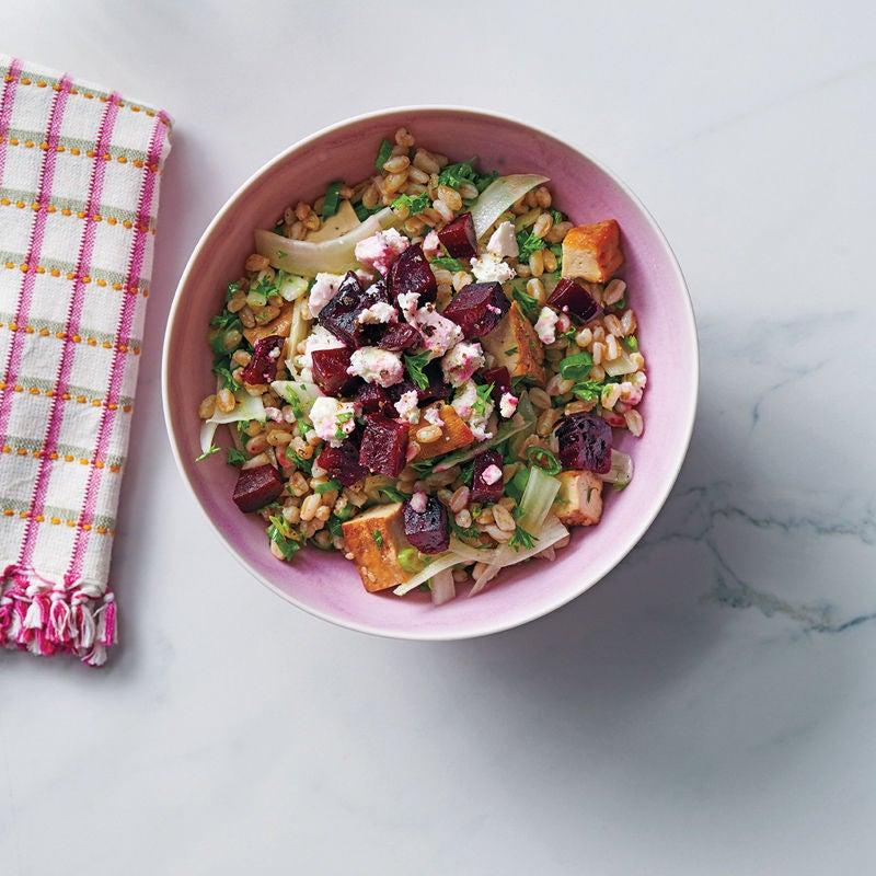 Photo de Salade d'épeautre, betterave et fenouil prise par WW