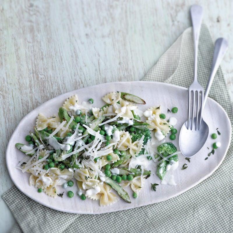 Foto Pasta mit grünem Gemüse von WW