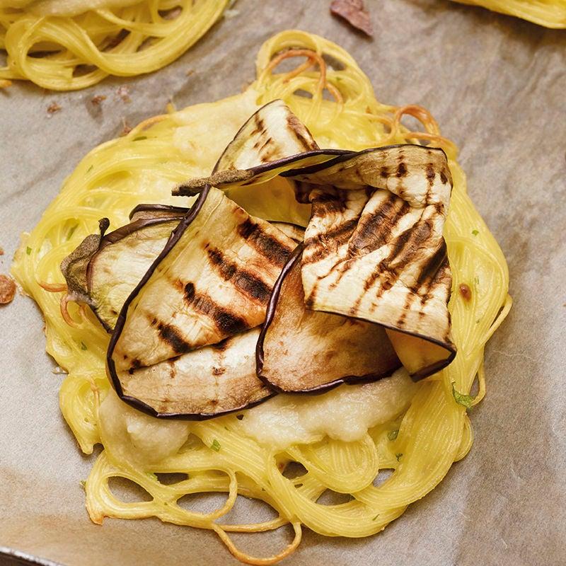 Photo de Galettes de capellini à l'aubergine prise par WW
