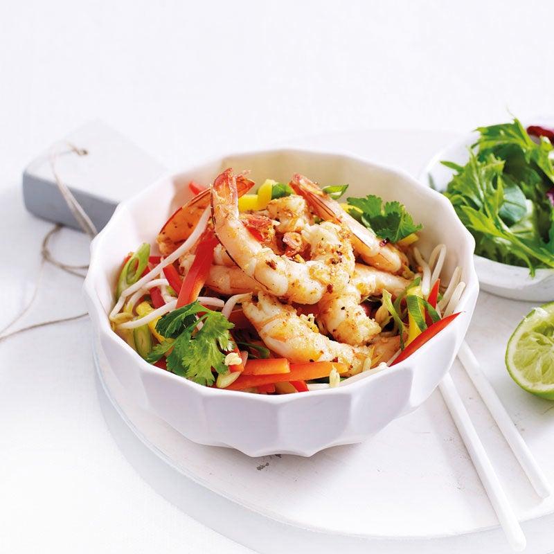 Photo de Crevettes épicées sur salade prise par WW