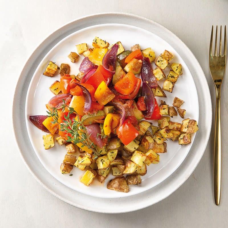 Photo de Légumes de ratatouille avec pommes de terre sautées au thym prise par WW