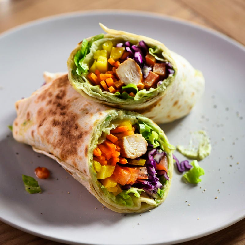 Photo de Wraps arc-en-ciel et houmous d'avocat prise par WW