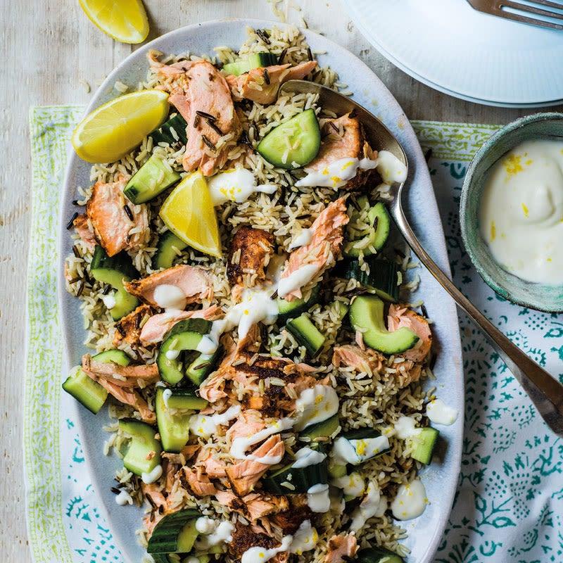 Photo de Salade de riz et de saumon épicé prise par WW