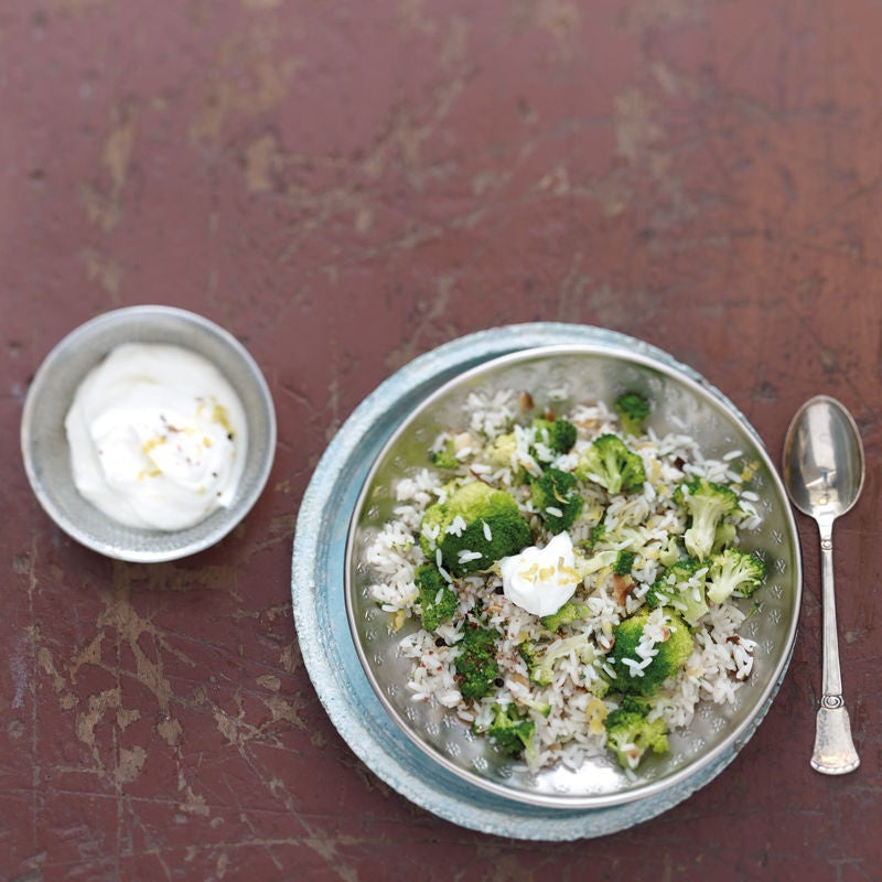 Foto Pilaw mit Broccoli und Mandeln von WW