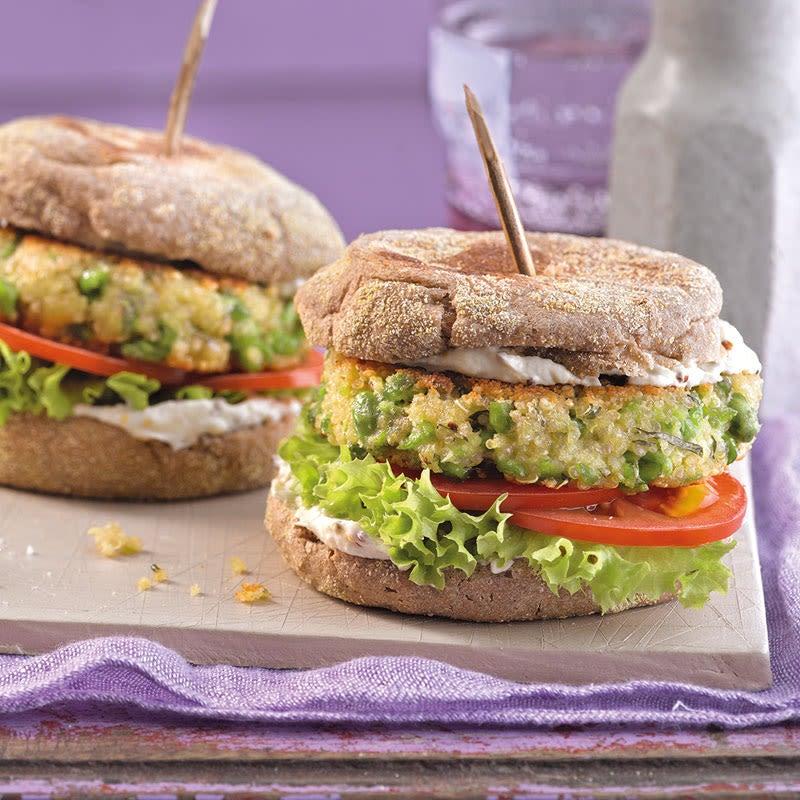 Photo de Burger de quinoa et petits pois à la menthe prise par WW