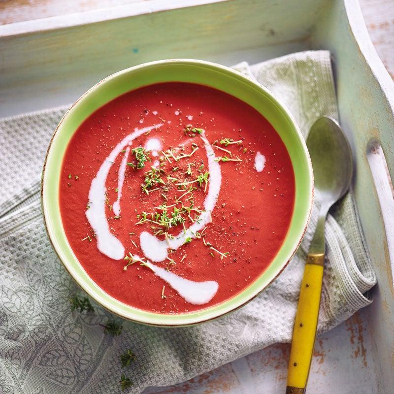 Foto Randenuppe mit Kokosnussmilch / Rote-Bete-Suppe mit Kokosmilch von WW
