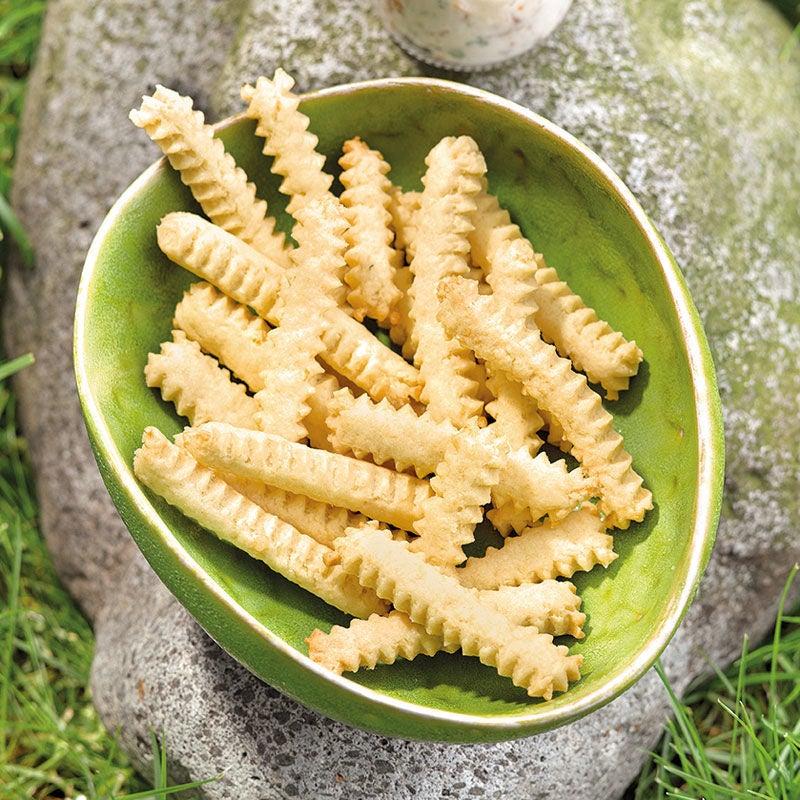 Foto Käse-Cookie-Fries mit Tomatendip von WW