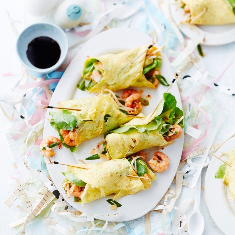 Photo de Roulades d'omelette aux crevettes prise par WW