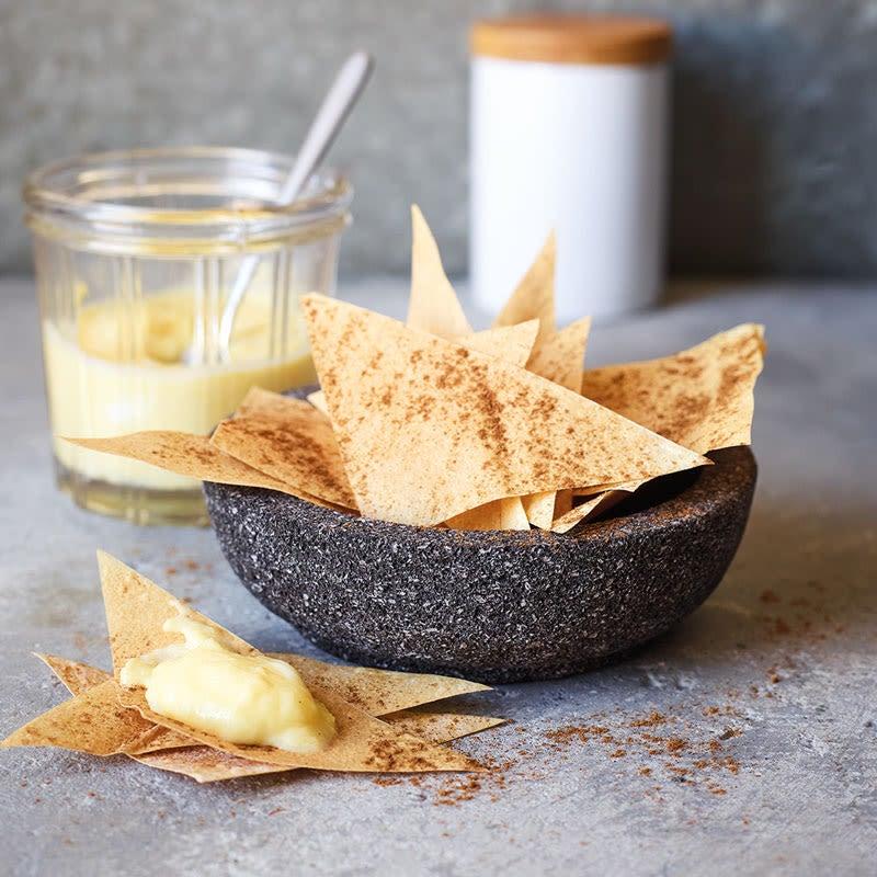 Photo de Chips de pâte filo à la cannelle et dip à la mangue prise par WW