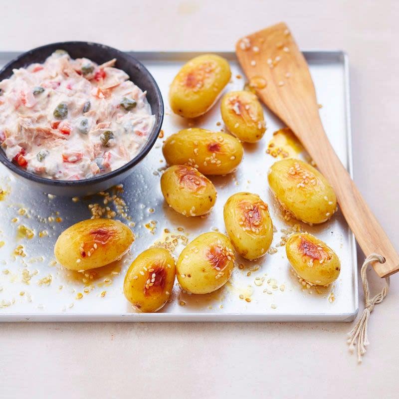 Foto Honig-Sesam-Kartoffeln mit Thunfischdip von WW