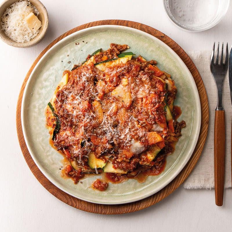 Foto Zucchetti-Lasagne mit Petersilienwurzel und Grana Padano von WW