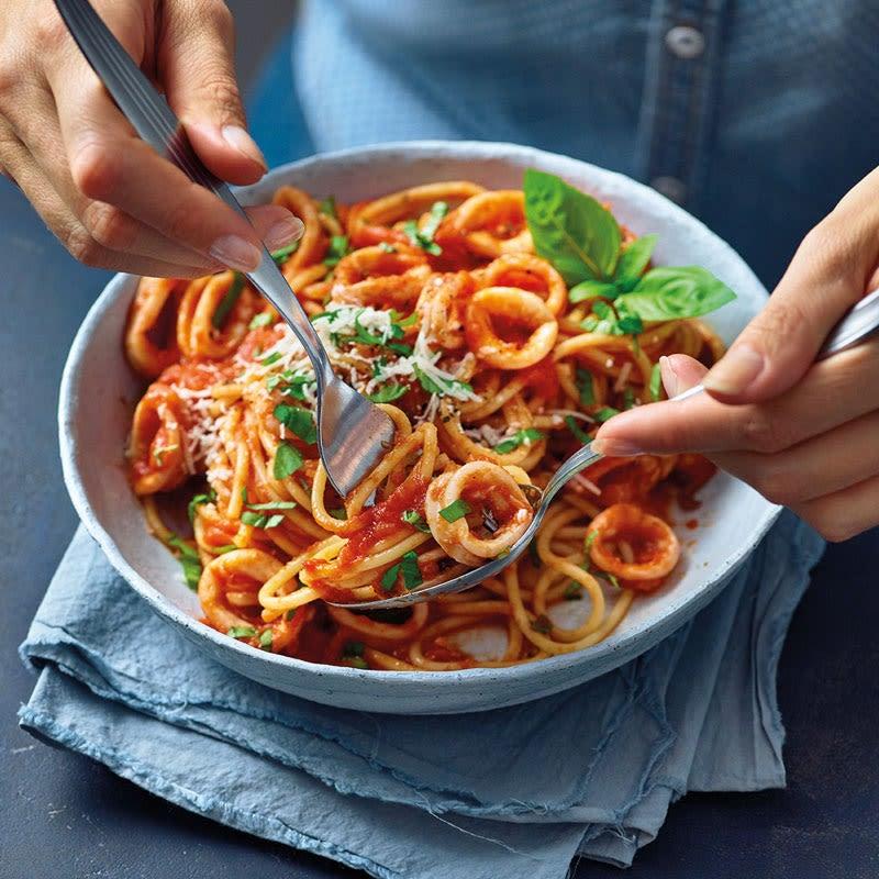 Photo de Spaghettis aux calamars prise par WW